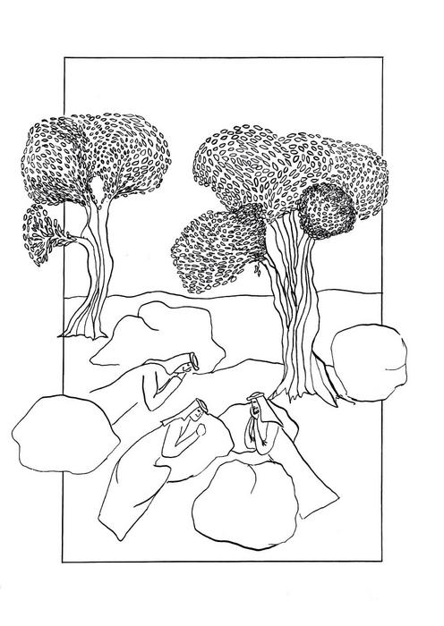 Spící učedníci v Getsemanské zahradě / Velikonoce