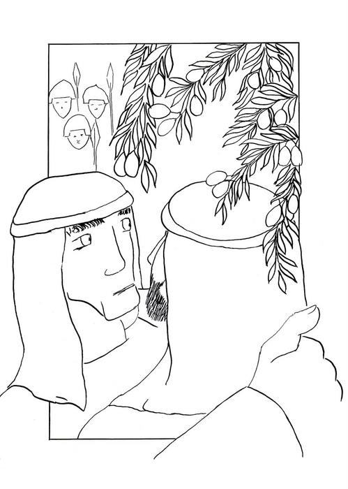 """Jidáš vydává Ježíše ozbrojencům - """"Jidášův polibek"""" / Velikonoce"""
