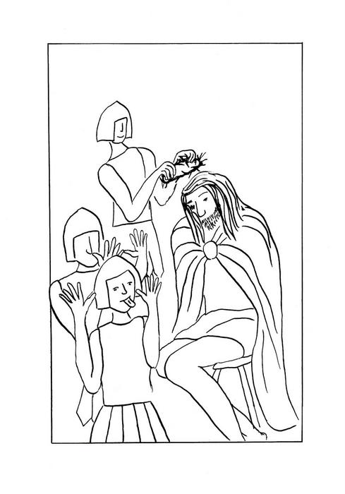Vojáci se Ježíšovi posmívají a nasazují mu korunu z trní / Velikonoce