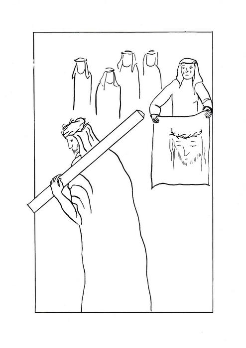 Veronika a Ježíš na křížové cestě / Velikonoce