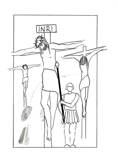 Vojáci probodli kopím Ježíšovi bok / Velikonoce