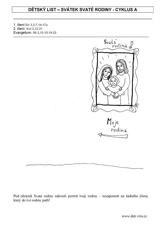 Svatek Svate Rodiny Cyklus A