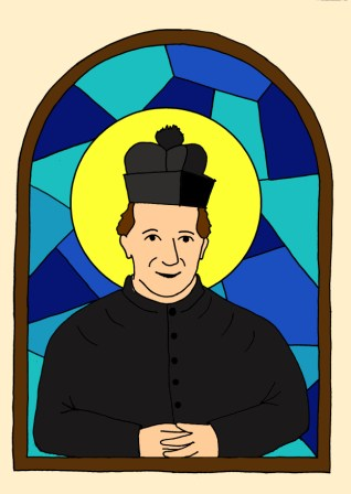 vitráž Don Bosco