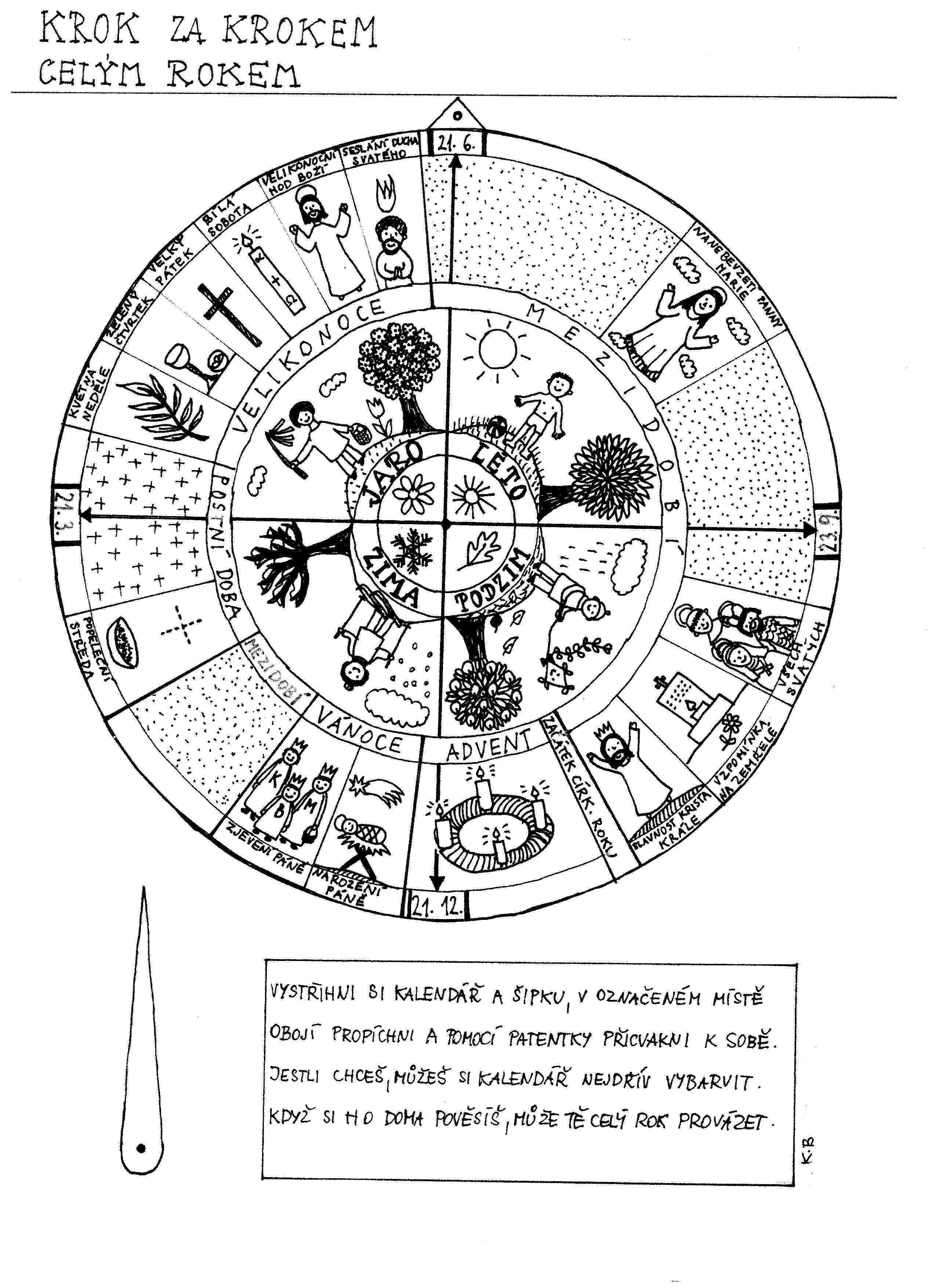 cirkevni kalendar Krok za krokem celým rokem   cirkevni kalendar